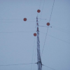 Top of tower and obstruction balls; D. Vaught photo