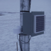 Datalogger weather box and PV panel; D. Vaught photo